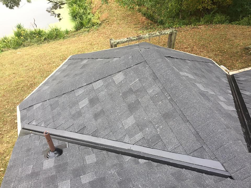 An example of roof flashing
